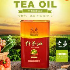 铁罐茶油1000ML*1罐,中国发明专利产品